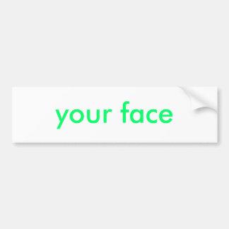 votre visage autocollant de voiture