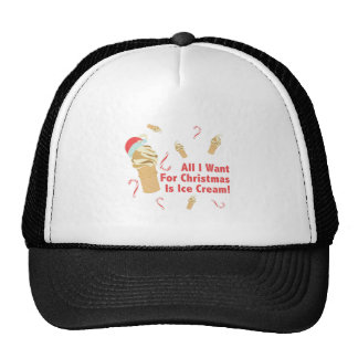 Voulez la crème glacée casquette de camionneur