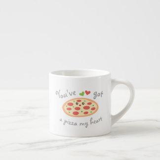 Vous avez une pizza mon calembour drôle mignon tasse expresso