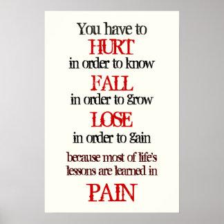 vous devez blesser afin de savoir la chute