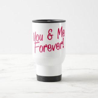 Vous et moi mariage de motivation de citation mug de voyage en acier inoxydable