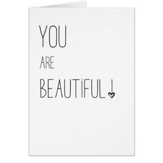 Vous êtes beau - LGBT - coeur de drapeau de Carte