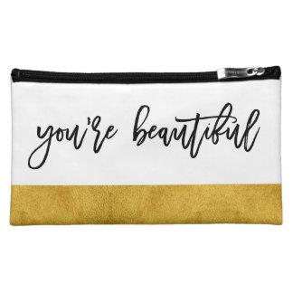 Vous êtes beaux - cosmétique manuscrit chic moyenne trousse de maquillage
