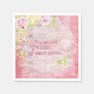 Serviettes en papier fleur simple for Dans mon jardin secret
