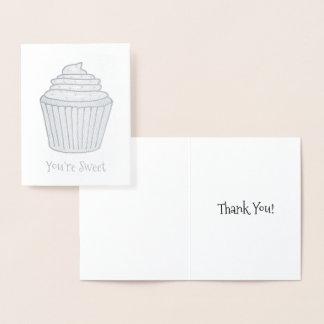 Vous êtes gâteau de petit gâteau givré par mercis carte dorée