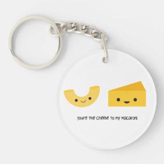 Vous êtes le fromage à mon porte - clé d'acrylique porte-clé rond en acrylique une face