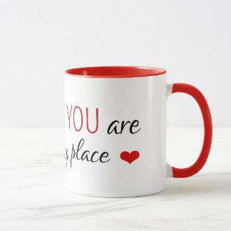 Vous êtes mon endroit heureux mug