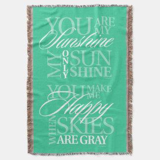 Vous êtes mon soleil couvre pied de lit