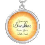Vous êtes mon soleil pendentif rond