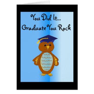 Vous il avez reçu un diplôme carte de vœux