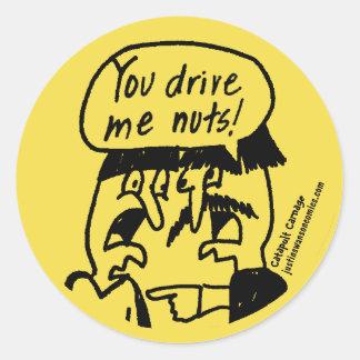 Vous me conduisez autocollant Nuts