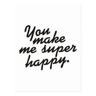 Vous me faites heureux superbe carte postale