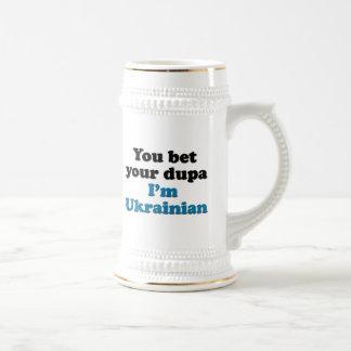 Vous pariez votre dupa que je suis ukrainien tasses