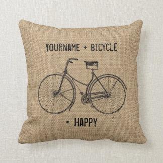 Vous plus la bicyclette égale le sac naturel coussin