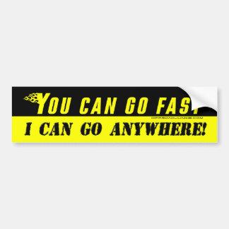 Vous pouvez aller rapidement, je pouvez aller n'im autocollant de voiture