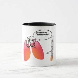 vous prenez à mon souffle le calembour médical mug