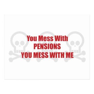 Vous salissez avec des pensions que vous salissez cartes postales