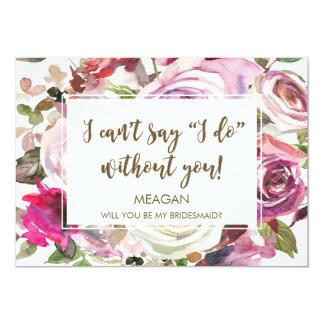 Vous serez ma carte de demoiselle d'honneur carton d'invitation  12,7 cm x 17,78 cm