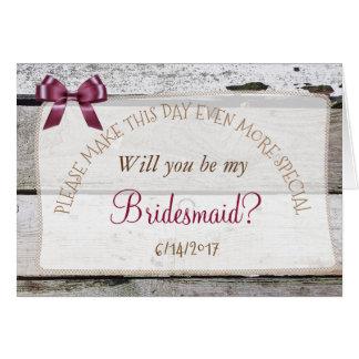 Vous serez ma carte rustique de Bourgogne de
