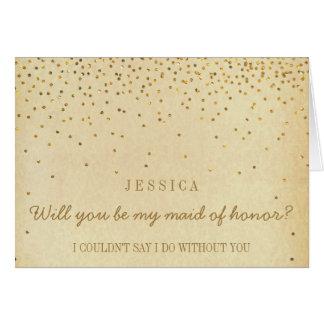 Vous serez ma domestique des confettis vintages carte de vœux