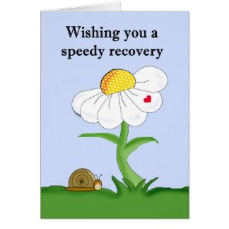 Vous souhaitant un prompt rétablissement carte de vœux