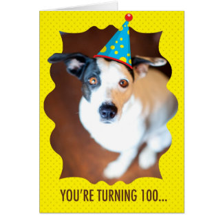 Vous tournez la 100th carte d'anniversaire