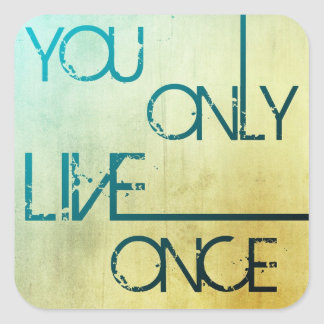 Vous vivez seulement une fois - des autocollants