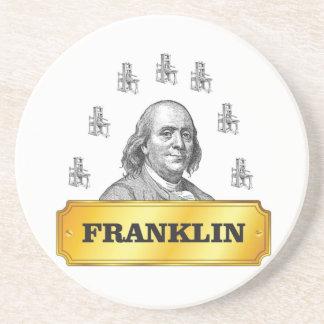 voûte de presse de Franklin Dessous De Verre En Grès
