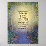 Voûte de prière de sérénité affiches