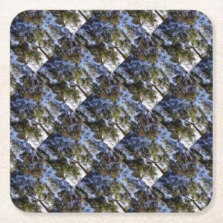 Voûte d'eucalyptus dessous-de-verre carré en papier