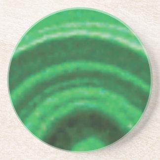 voûte verte de roche dessous de verre en grès
