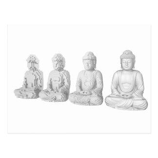 Voxel Bouddha Cartes Postales