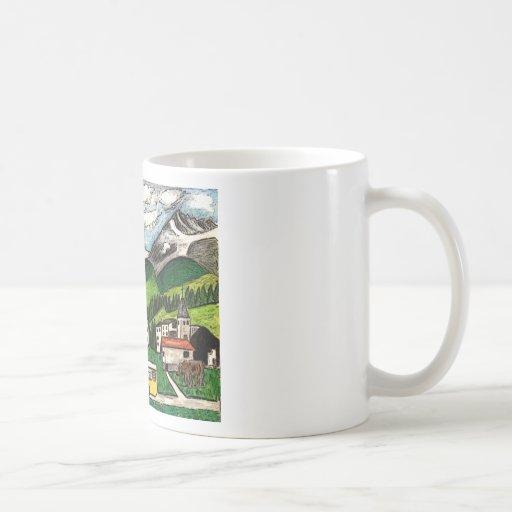 Voyage d'autobus tasse à café