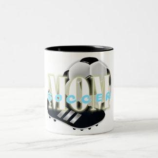 Voyage de la maman du football (05)/tasse de mug bicolore