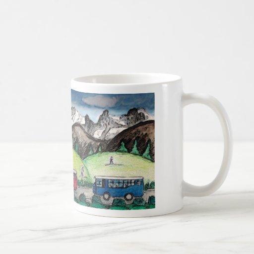 Voyage de montagne mugs à café