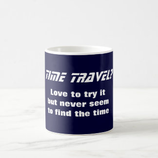 Voyage de temps mug blanc