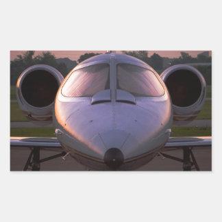 Voyage d'entreprise d'avion à réaction sticker rectangulaire
