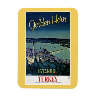 Voyage d'or vintage d'Istanbul Turquie de klaxon Magnet En Vinyle