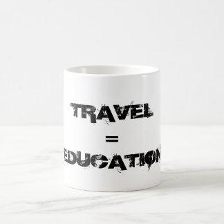 Voyage = éducation mug blanc