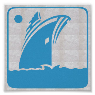 Voyage graphique de voile de mer de vacances de poster