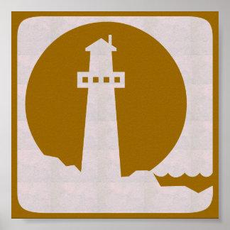 Voyage graphique de voile de plage de mer de PHARE Poster