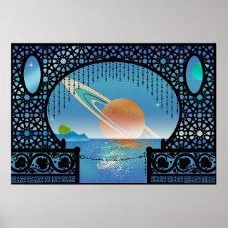Voyage interplanétaire de ~ de pavillon d'Utopie Poster