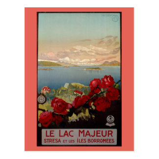 Voyage italien de Maggiore de lac romantique Carte Postale