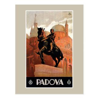 Voyage italien vintage de Padoue Padoue Carte Postale