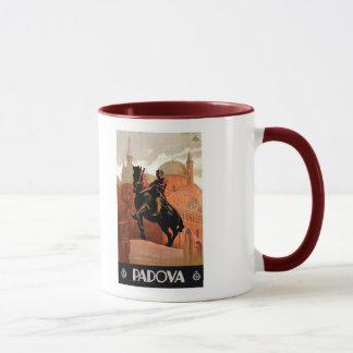 Voyage italien vintage de Padoue Padoue Mug