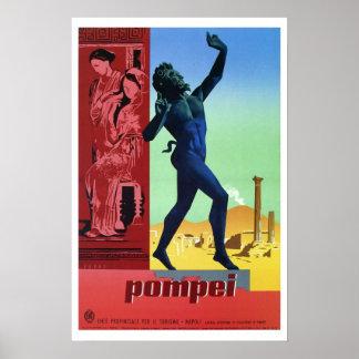 Voyage italien vintage de Pompeii