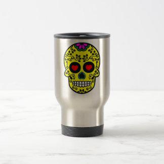 voyage mexicain de crâne/tasse de banlieusard mug de voyage