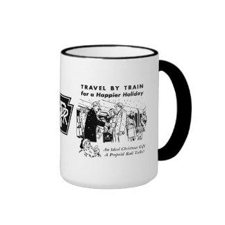 Voyage par le chemin de fer de la tasse à café
