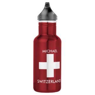 Voyage rouge de drapeau suisse de la Suisse Bouteille D'eau