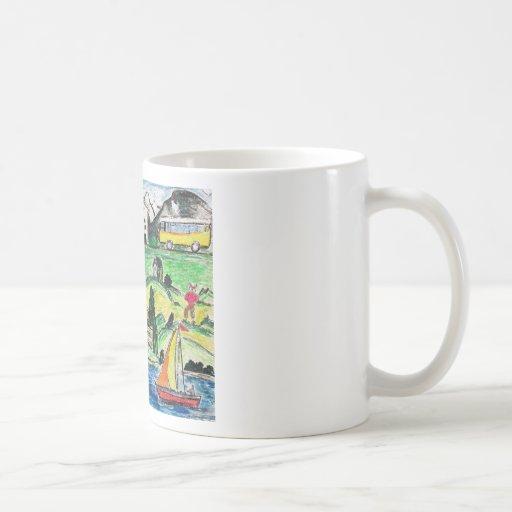 Voyage surréaliste mug à café
